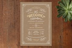 Invitation options - Hand Delivered Wedding Invitations by Jennifer Wick at minted.com
