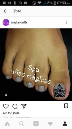 espectacular ese decorado Cute Pedicure Designs, Toe Nail Designs, Pedicure Nail Art, Toe Nail Art, Cute Toe Nails, Pretty Nails, Iris Nails, Cute Pedicures, Magic Nails