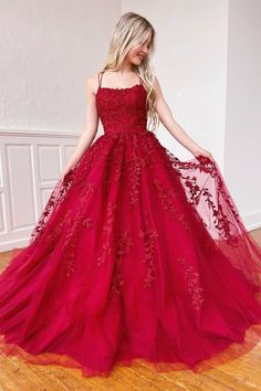 Backless Burgundy Lace Prom Dresses, Open Back Wine Red Lace Formal Evening Dresses Straps Prom Dresses, Pretty Prom Dresses, Long Prom Gowns, Tulle Prom Dress, Formal Evening Dresses, Dress Long, Short Prom, Tulle Lace, Dress Formal