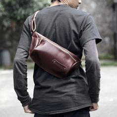 """Sfkauto Leather Slingbag (Natural Tan) Check our catalog @sfkautostore for more info about our product  Spec: ▪vegtan Leather for exterior ▪vegtan Leather for Interior ▪embossed """"sfkauto"""" . ▪one pocket slot on backside  Contact: Line:sfkauto , bbm pin: 5F0CC6E4 , phone: 085721130293 Email: sfk.auto@gmail.com"""