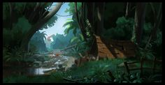 Jungle exploration paintings on Behance