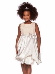 This satin flower girl dress from My Girl Dress features rosette details and a matching bolero. Semi Casual Dresses, Junior Bridesmaid Dresses, Wedding Dresses, Satin Flowers, Satin Dresses, Flower Girl Dresses, Flower Girls, Toddler Girl, High Neck Dress