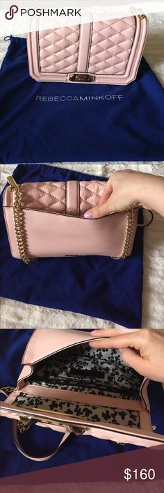 Rebecca Minkoff crossbody bag Beautiful bag. . Quilted Love leather crossbody bagLight pink. Amazing quality. Rebecca Minkoff Bags Crossbody Bags