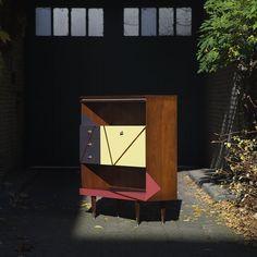Une belle enfilade scandinave rénovée / Vintage renovated furniture ...