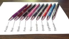 Personalized Ballpoint Pen - Full Length Laser Engraved Bright Anodized Ball Point