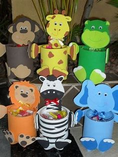 Tin Can Crafts-In the Wild Vacation Bible School 2019 Kids Crafts, Tin Can Crafts, Toddler Crafts, Preschool Crafts, Diy And Crafts, Toilet Paper Roll Crafts, Paper Crafts, Recycler Diy, Safari Crafts