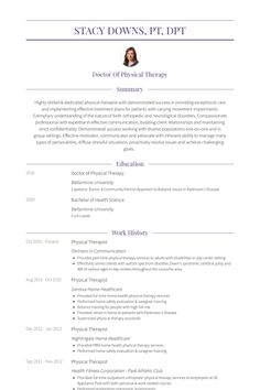 Resume For Physical Therapist New Grad Physical Therapist Resume  Physical Therapy  Pinterest .