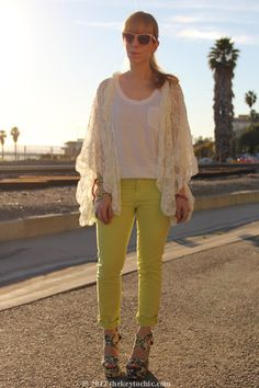 lace cardigan and jeans - Google Search