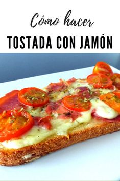 Healthy Snacks, Healthy Recipes, Mozzarella, Spanish Food, Deli, Vegetable Pizza, Tapas, Brunch, Food And Drink