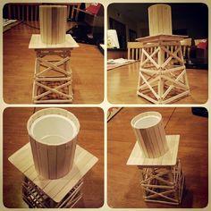 WIP Old West Water Tower. #miniatures #wargaming #terrain #wwx #oldwest #wildwest #diy