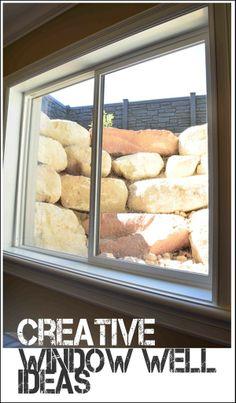 Window well ideas- these look soooo much better than regular window wells.  Fun options.