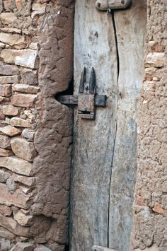 Africa | Door from the Dogon people of Mali | ©Ursula G, via fotocommunity