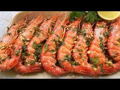 🎄GAMBONES AL HORNO, SENCILLOS Y RÁPIDOS 🦐 // BEATRIZ COCINA. - YouTube Tapas, Shrimp, Food And Drink, Cooking Recipes, Pasta, Meat, Youtube, Gourmet, Frases