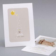 Zelfgemaakte geboortekaartjes, Geboortekaartje classique, papillon fpc