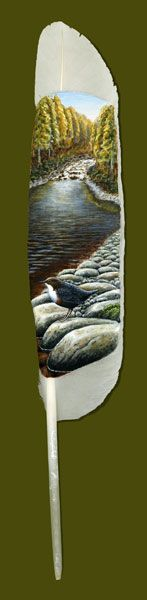 Anjas' Theme Of The Week: Feather Week 1: Painted swan feathers by Ian Davie