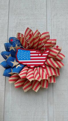 Hey, I found this really awesome Etsy listing at https://www.etsy.com/listing/466548983/patriotic-printed-burlap-wreath
