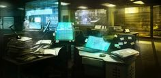 Image result for Sci fi office