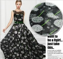 Items similar to Black Silk Chiffon Fabric With White Dandelion Print Fabric Width 55 intch on Etsy Printed Silk Fabric, Silk Chiffon Fabric, Silk Charmeuse, Lace Fabric, Fabric Material, Georgette Fabric, What Is Chiffon, Shopping, Patterns