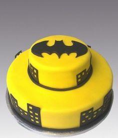 Torta gialla e nera di Batman