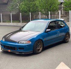 Civic Jdm, Honda Civic Hatchback, Jdm Wheels, Cool Cars, Super Cars, Automobile, Badass, Trucks, Instagram