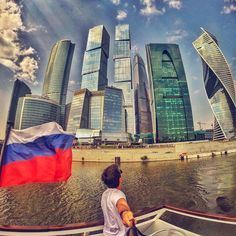 Amazing skyline of the Financial Center in Moscow, Russia. Beautiful architecture of the skyscrapers. Pic by @fefingoot. #GoPro #moscow #russia #city #skyline #travel #wanderlust