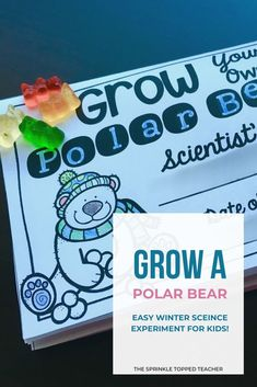 Winter Science Experiment for Kids My students love this awesome winter or Christmas science experiment! Fun for grade, grade, grade, grade! The gummy bear scientific method book makes for the perfect science fair project too! 2nd Grade Activities, 5th Grade Science, Science Activities For Kids, Easy Science, Science Fair Projects, Elementary Science, Science Experiments Kids, Science Classroom, Reading Activities