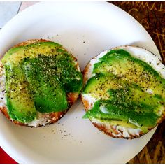 Avocado Cream Cheese Bagel