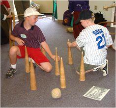Playing Pilgrim games at Plimoth Plantation