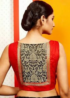 Latest patch work blouse designs 2019 - New Blouse Designs Patch Work Blouse Designs, New Blouse Designs, Stylish Blouse Design, Saree Blouse Neck Designs, Saree Blouse Patterns, Designer Blouse Patterns, Sari Bluse, Bollywood, Beautiful Blouses