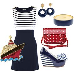 In the Navy..., created by beachpeace on Polyvore