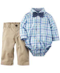 Carter's Baby Boys' 3-Piece Bodysuit, Pants & Bowtie Set - Kids & Baby - Macy's