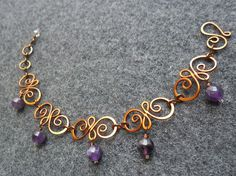 Jewellery Courses every Making Wire Jewelry For Beginners unless Great Wire Jewelry Projects And Techniques; Antique Jewellery Near Me Wire Wrapped Bracelet, Copper Bracelet, Copper Jewelry, Wire Jewelry, Beaded Jewelry, Jewelery, Handmade Jewelry, Copper Wire, Amethyst Jewelry