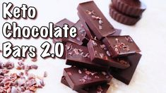 Keto Chocolate Bars! 2.0 Low Sugar Desserts, Diabetic Desserts, Diabetic Recipes, Keto Recipes, Coconut Milk Chocolate, Low Carb Chocolate, Chocolate Bars, Keto Fruit, Chef Work