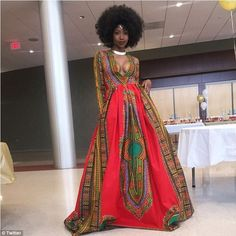 Prom sensation: Kyemah McEntyre hit back at bullies by designing this stunning African-inspired prom dress