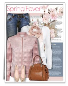 """""""Pink Bomber Jacket"""" by daiscat ❤ liked on Polyvore featuring Anine Bing, Isabella Oliver, Alexander McQueen, Ted Baker and Kate Spade"""