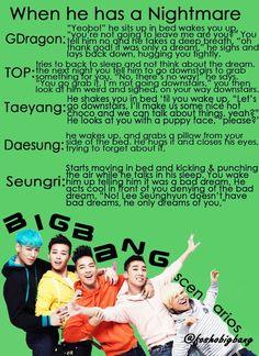 Big Bang scenarios   kpop scenarios