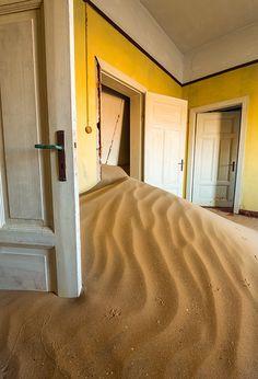"""The Yellow Room"" - Kolmanskop, Namibia"