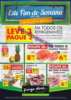 Antevisão Promoções Folheto Pingo Doce - de 16 a 18 de Janeiro - Este Fim-de-Semana