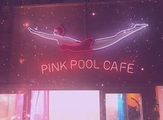 Pink Pool Cafe Neon Sign