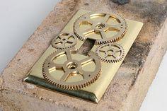 DIY - Steampunk Decor | Light Switch Plates