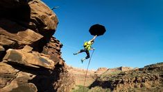 In a video by GoPro, daredevil Matt Hecker and a team of rock climbers create a giant pendulum rope swing over the side of a Utah canyon. The result appears to be equal parts fun and terrifying. I ...