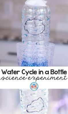 Make science fun and interactive with this water cycle in a bottle experiment. Great for early learners. #science #watercycle