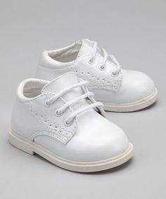 Loving this White Wingtip Dress Shoe on #zulily! #zulilyfinds