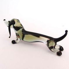 dachshund blown glass | Glass Dog Dachshund - Blown Glass Dogs Figurines