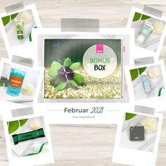 Auf meinem Blog findet ihr nun das Unboxing der Bipa Bonusbox vom Februar 2021, die neben Pflegeprodukten auch ein Schlafgetränk und einen Proteinriegel enthält. #beautyblog #beautyblogger #unboxing #beautybox #bonusbox Beauty Box, Glycerin, Container, Blog, Decor, Passion Flower, Milky Bar Chocolate, Lemon Balm, Cocoa Butter