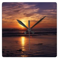 Ocean Sunset clock