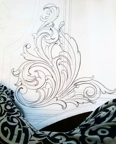 21 Ideas For Design Pattern Drawing Art Baroque Ornament, Hai Tattoos, Filigree Tattoo, Baroque Tattoo, Baroque Art, Ornament Drawing, Engraving Art, Carving Designs, Leather Pattern