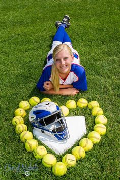 Senior photos | girls | softball | catcher | outside | photo ideas | Cheryl Nichols Photography. http://cherylnicholsphotography.com