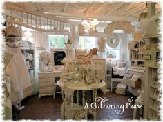 Well...I'm finally getting around to showing you some pictures of my new A Gathering Place Booth at Serendipity Market in Edmond, Oklaho...