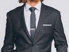 Men's Custom Suits - Premium Charcoal Gray Suit   INDOCHINO